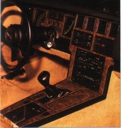 Dash Houtlook Set Automaat rosewood 1984/1985