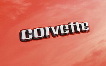 Embleem Achter corvette 6 1/4 inch 1976 Early