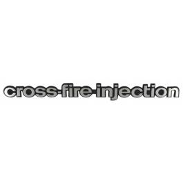 Embleem Cross Fire Zij 1982